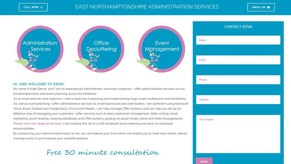 Rushden Website Design KDVA